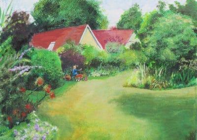 Garden in Winscombe, Somerset