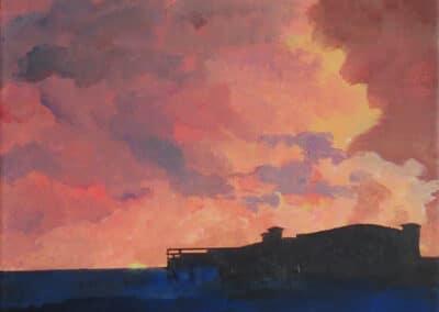 Dawn over The Grand Pier,Weston-Super-Mare