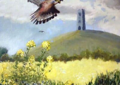 Painting of Glastonbury Tor