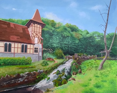 Painting of Rickford Chapel